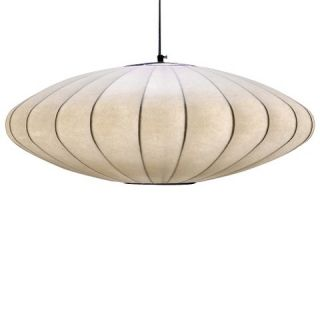 Oval Pendant Cream (Includes Edison Bulb)