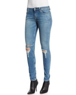 IRO Mira Cotton Moto Jacket, Britney Short Sleeve T Shirt & Nikky Distressed Denim Jeans