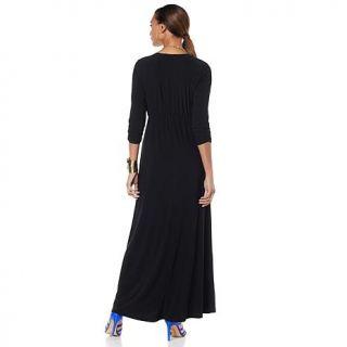 "Nikki by Nikki Poulos ""Kate"" V Neck Maxi Dress   7784138"