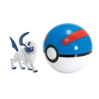 Tomy Pokémon Clip N Carry Pokeball Absol and Great Ball   Toys