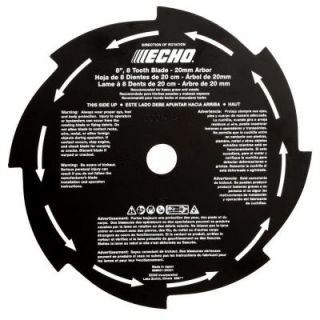 ECHO 8 In. 8 Tooth Grass and Weed Brush Blade 69600120331