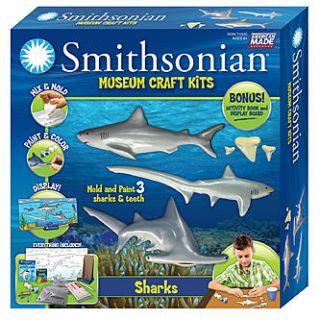 Skullduggery Smithsonian Museum Craft Shark Casting Kit   Toys & Games