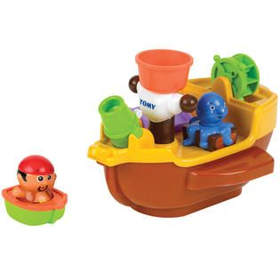 Tomy Pirate Petes Bath Ship   Toys & Games   Action Figures