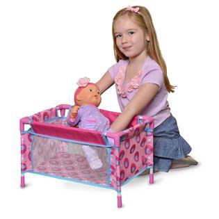 LEVA TOY 19.5 Doll Play Pen Pink   Toys & Games   Dolls