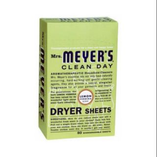 Mrs. Meyer's   Clean Day Dryer Sheets Lemon Verbena   80 Sheet(s)
