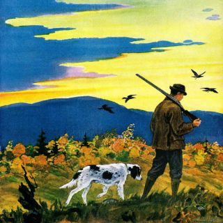 Marmont Hill Duck Hunter and Dog by Paul Bransom Painting Print on