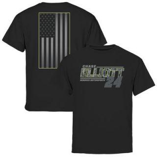 Chase Elliott Youth Digi Camo Patriot T Shirt   Black