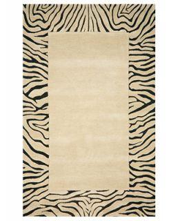 Liora Manne Area Rug, Seville 9634/12 Zebra Border Neutral 8 x 10