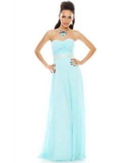 Prom 2014 Blue Crushes Sweetheart Dress Look