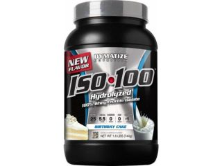 ISO 100 Hydrolyzed 100% Whey Protein Isolate, Birthday Cake   1.6 lbs (744 Grams