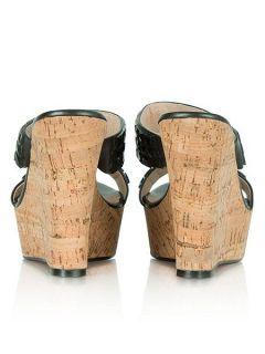 Daniel Shaymen wedged gem sandals Black