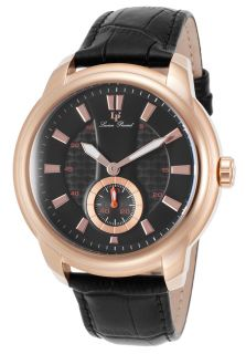 Duval Black Genuine Leather and Dial Rose Tone Case