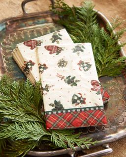 MacKenzie Childs Evergreen Holiday Paper Napkins