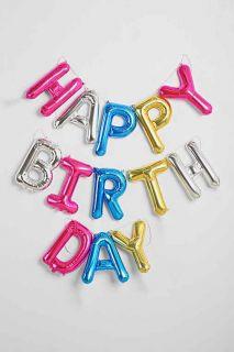 Happy Birthday Rainbow Party Balloon Kit