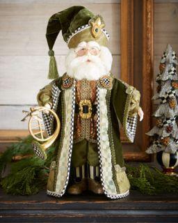 MacKenzie Childs Evergreen Santa
