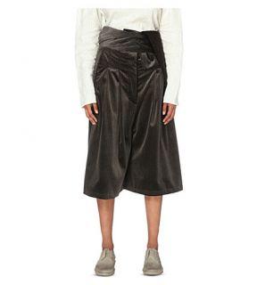 DANIEL GREGORY NATALE   Wide leg velvet culottes