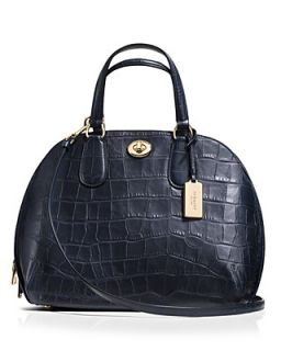 COACH Prince Street Satchel in Embossed Leather