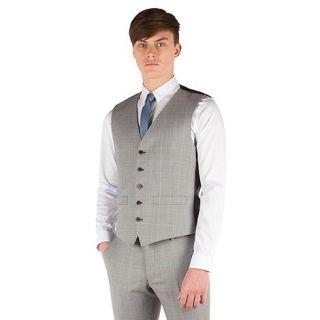 Ben Sherman Prince of wales check super slim fit camden suit waistcoat