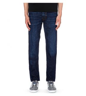 STONE ISLAND   Faded regular fit tapered jeans