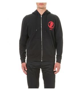 YANG LI   Mask motif cotton jersey hoody