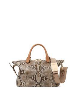 Chloe Baylee Python Shoulder Bag, Beige