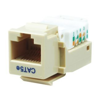 GRAINGER APPROVED Keystone Jack, Beige, Plastic, Series: Standard, Cable Type: Category 5e   Voice and Data Jacks   13U616|1075