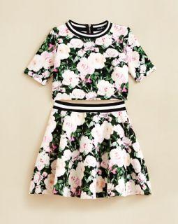 Miss Behave Girls' Floral Print Scuba Top & Skirt Set   Sizes S XL