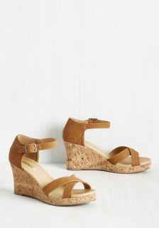 Panache Appreciation Wedge in Tan  Mod Retro Vintage Heels