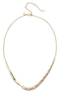 Alexis Bittar Miss Havisham Encrusted Drape Frontal Necklace