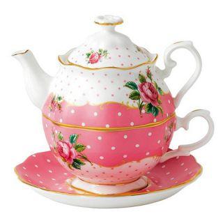 Royal Albert Cheeky Pink Pink teapot and cup
