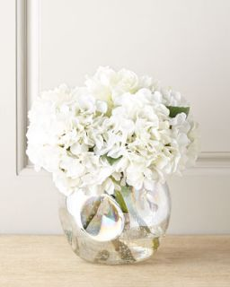 John Richard Collection Whiter Shade of Pale Faux Peony Arrangement