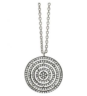 ASTLEY CLARKE   14 carat white gold and diamond Concentric Circle pendant
