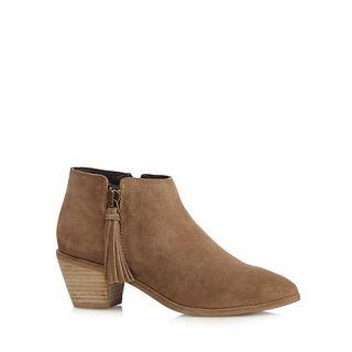 RJR.John Rocha Designer tan suede tassel ankle boots