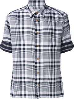 Vivienne Westwood Man Short Sleeve Tartan Shirt   Kasuri