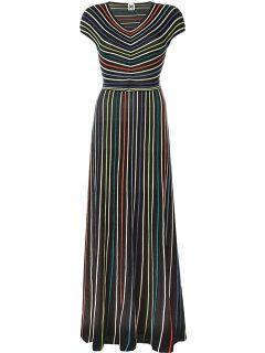 M Missoni Striped Cut out Back Maxi Dress   Cuccuini