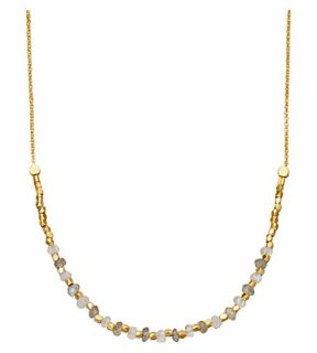 ASTLEY CLARKE   Labradorite Detail 18ct gold plated necklace