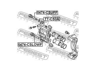 2010 Mitsubishi Montero   Disc Brake Caliper Guide Pin Cover