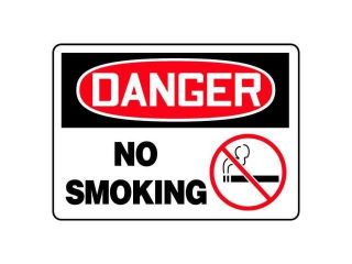 ACCUFORM SIGNS MSMK026VS Danger No Smoking Sign, 7 x 10In, ENG, SURF