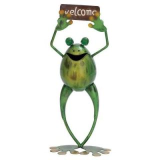 ORE International 18 in. H x 8 in. L x 4 in. W Metal Welcome Frog 69380