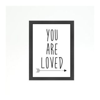 You are Loved Framed Textual Art by Americanflat