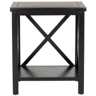 Safavieh Candence Black Cross Back End Table AMH6523B