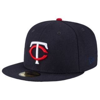 New Era MLB 59Fifty Flag Redux Cap   Mens   Baseball   Accessories   Minnesota Twins   Navy