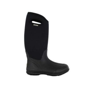 BOGS Classic High Women 13 in. Size 7 Black Rubber with Neoprene Handle Waterproof Boot 60153 001 07