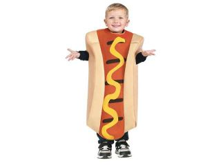 Hot Dog Toddler Toddler Child Costume 3T 4T