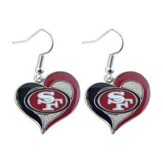 NFL San Francisco 49ers Swirl Heart Shape Dangle Sports Team Logo