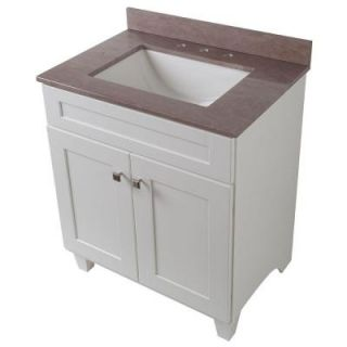 Home Decorators Collection Creeley 31 in. Vanity in Classic White with Stone Effects Vanity Top in Kaiser Gray 19EVSDB30 SE3122 KG