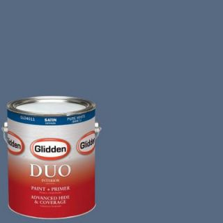 Glidden DUO 1 gal. #HDGV38D Blueberry Hill Satin Latex Interior Paint with Primer HDGV38D 01SA
