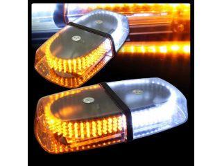 240 LED Vehicle Roof Top Emergency Hazard Warning Strobe Light  Amber/White