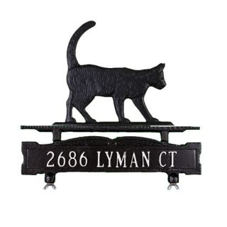 Montague Metal Products One Line Mailbox Address Sign with Cat