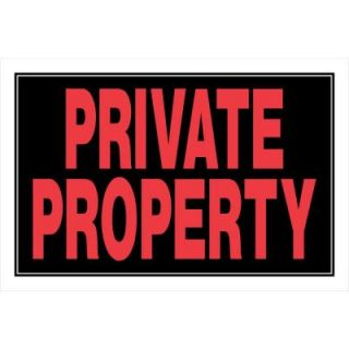 The Hillman Group 8 in. x 12 in. Plastic Private Property No Trespassing Sign 839908